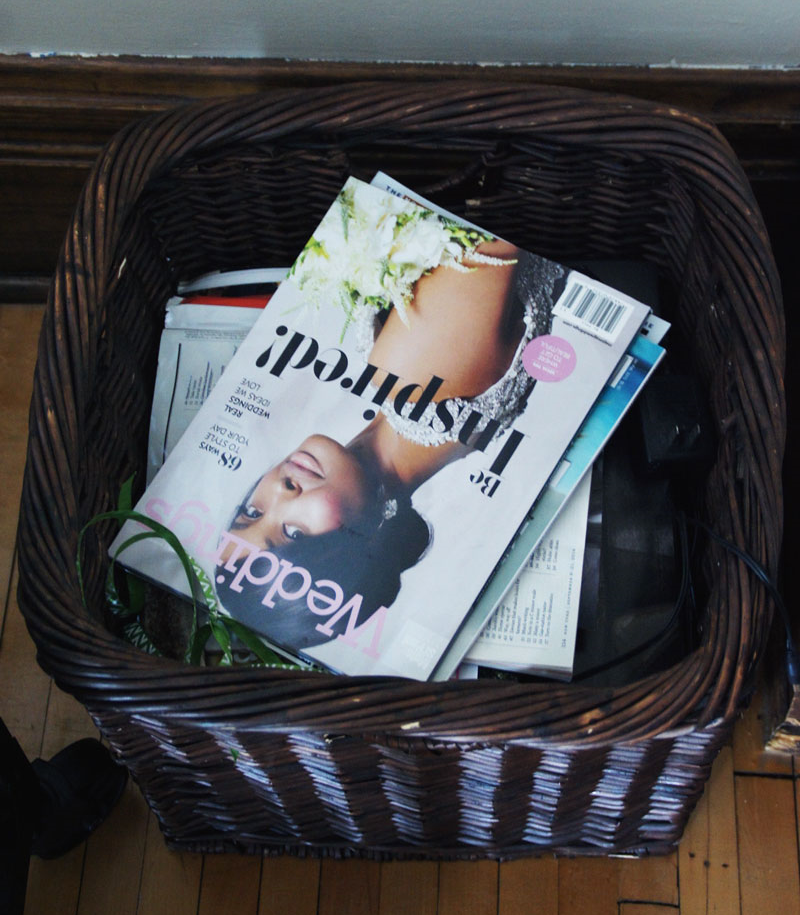 Our big-ass basket of magazines.