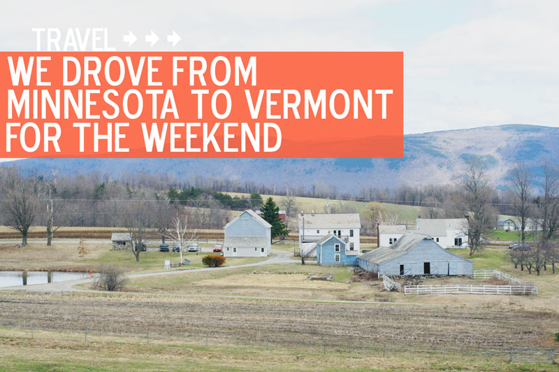 Farms, mountains, dirt roads... that's Vermont for ya!