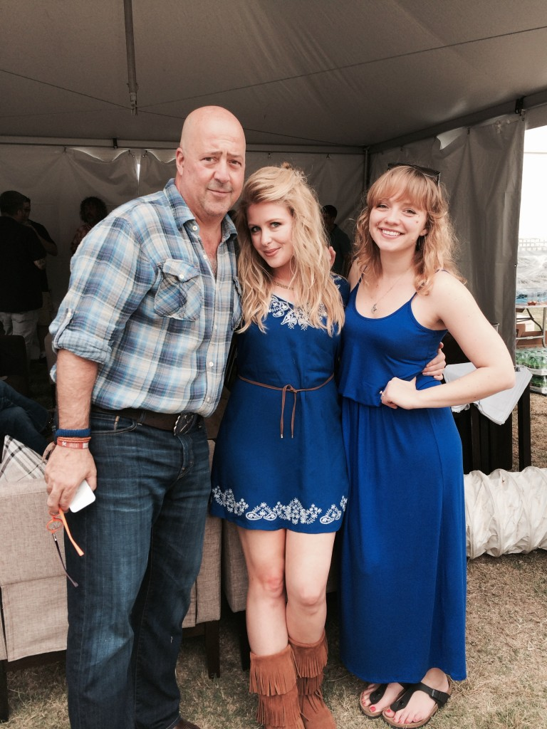 Andrew Zimmer, Georgia & me at Austin Food & Wine fest. Obviously blue is the way to go.