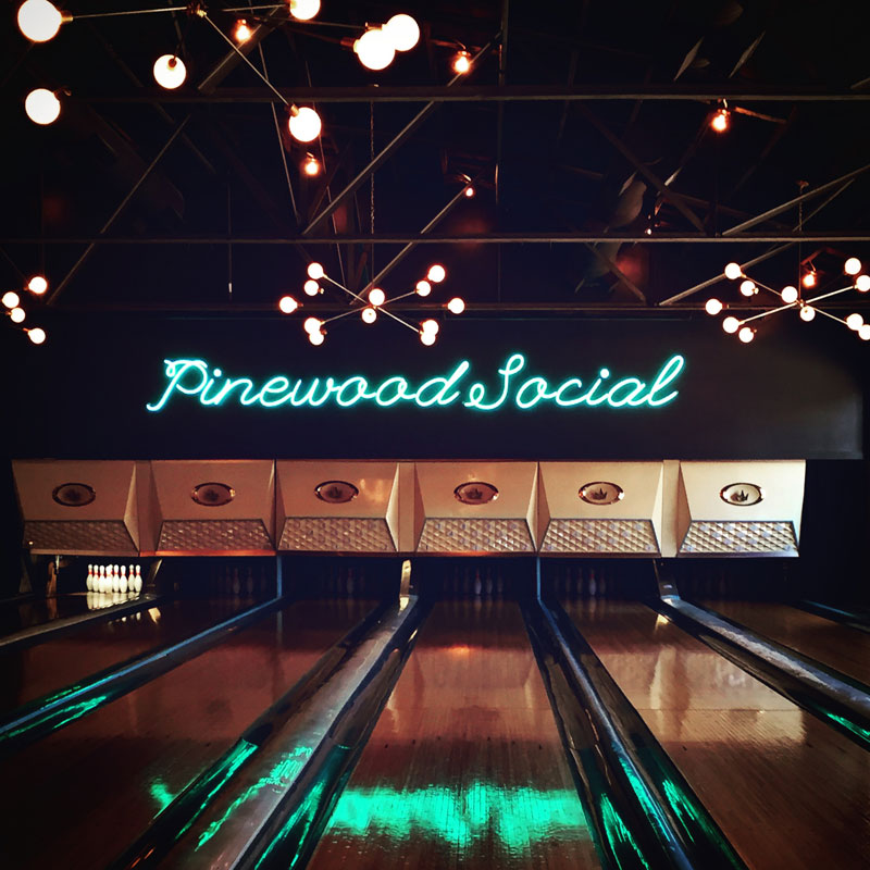 One sweet, sweet bowling alley.
