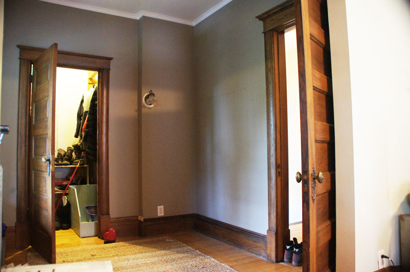 The empty room & the adjacent closet.