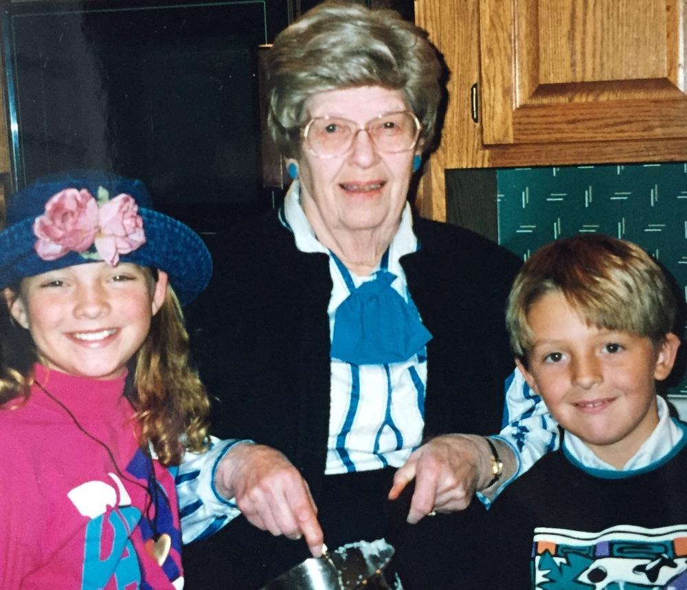 My dear Grandma Stromberg making Andy & I dinner. I'm sure I barely touched it. I'm sorry, grandma!
