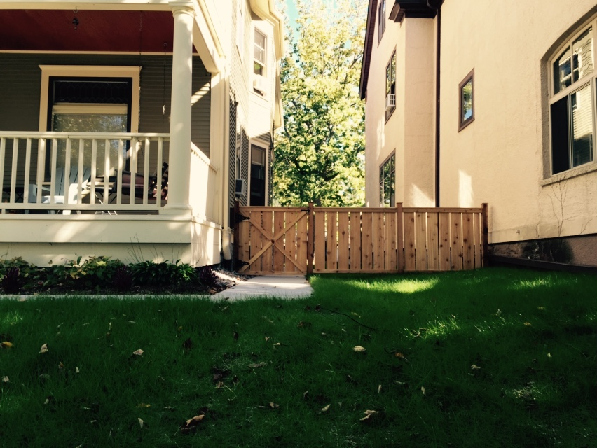 The new fence that my hubby built (I even helped a little).