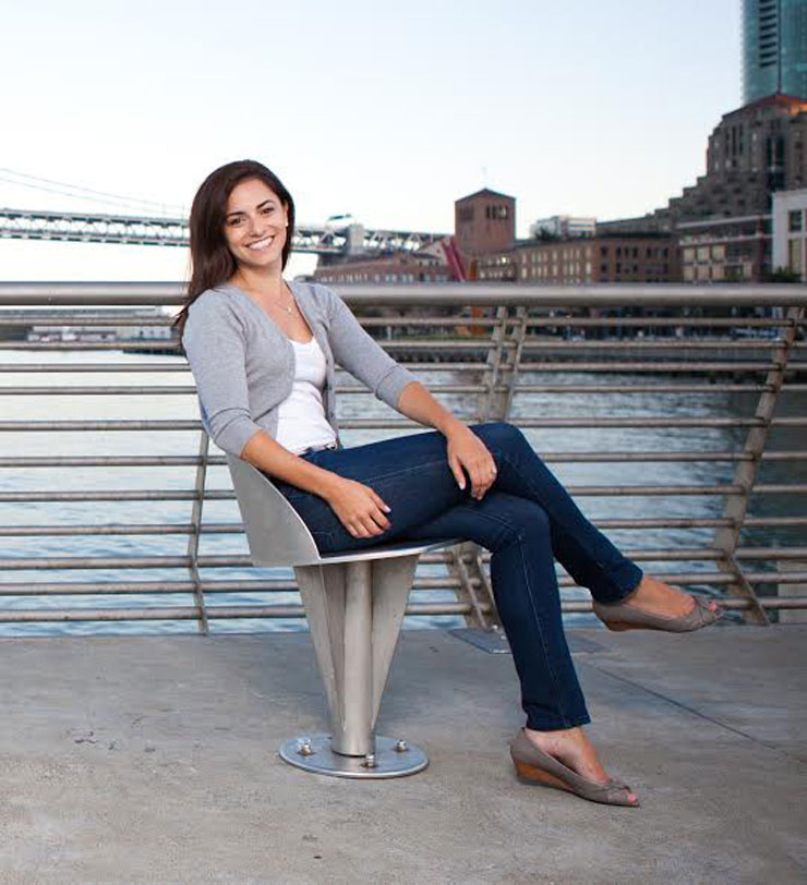 Erica Gellerman. Manages her books AND finds time to hang out by the harbor.