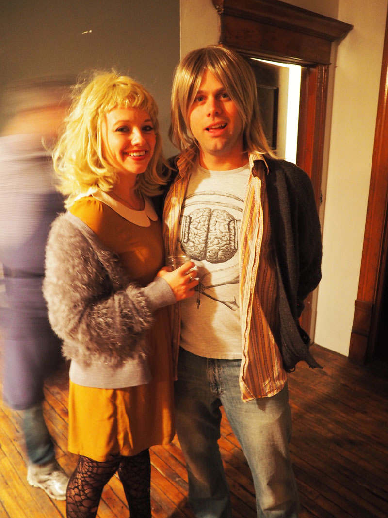 Courtney Love & Kurt Cobain.