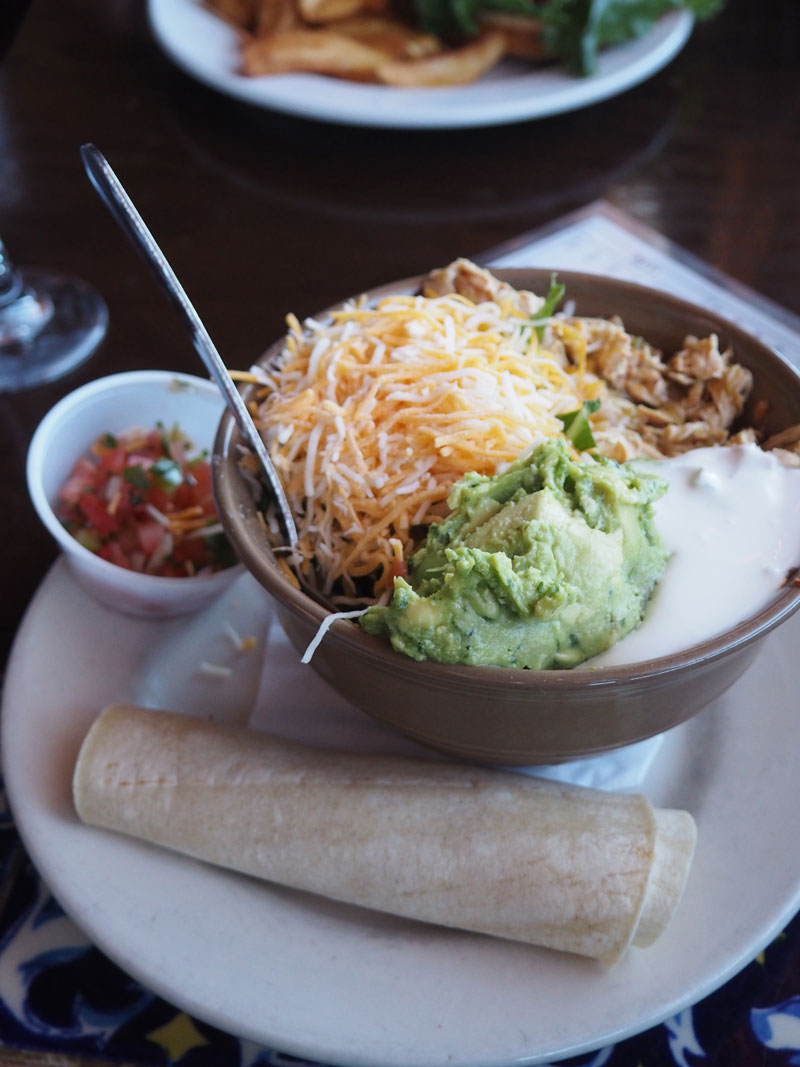Pappy & Harriet's chicken Tex-Mex bowl.