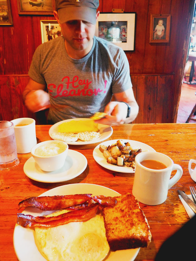 Diner mug, coconut bread, crap on the walls... breakfast heaven. | Pepe's - Key West, Florida