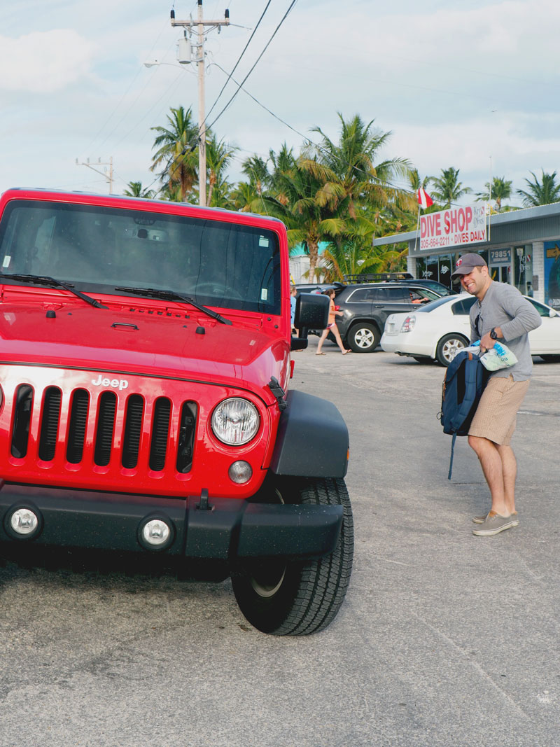 Red Jeep Wrangler alert! Directions to the 1990s, please.