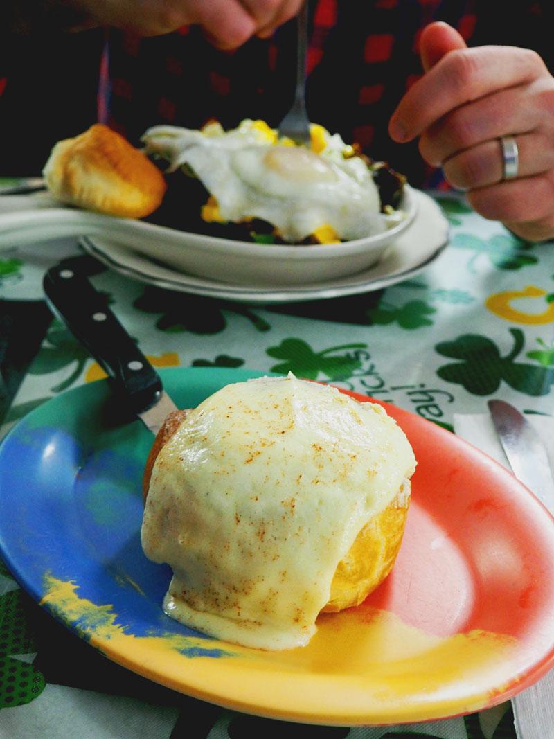 A well-balanced breakfast at Bob's Bunz. | Islamorada, FL
