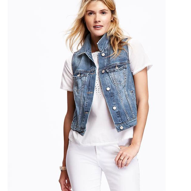 Denim vests are back! |28 Things That Will Make Your Pregnancy Better