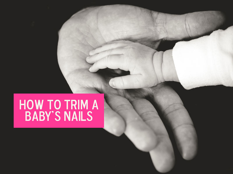 A new parent's biggest nightmare: trimming a baby's nails.