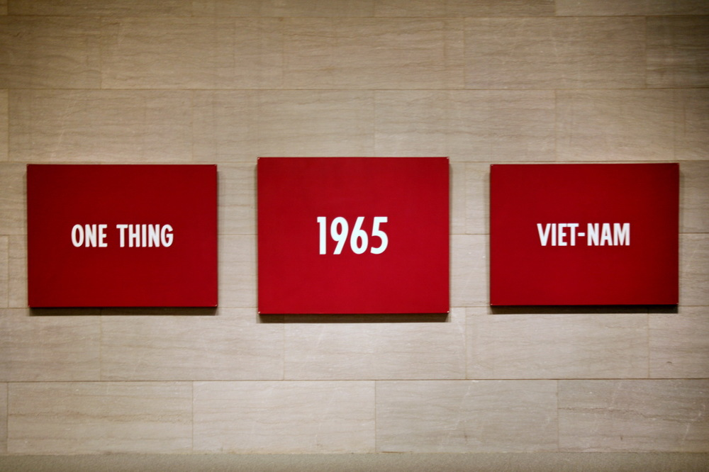'One Thing', '1965', 'Viet-Nam' by On Kawara (Photo Credit: New York Times)