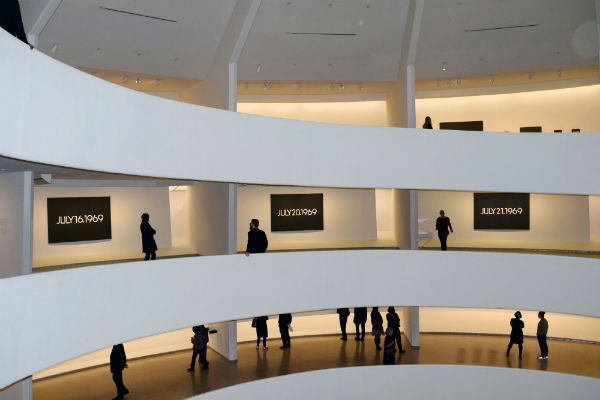 View of On Kawara--Silence at The Guggenheim Museum (Photo Credit: ArtNet)