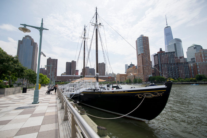 Located on Pier 25 in Tribeca, Grand Banks gives a beautiful new view to New York City (NY Times)