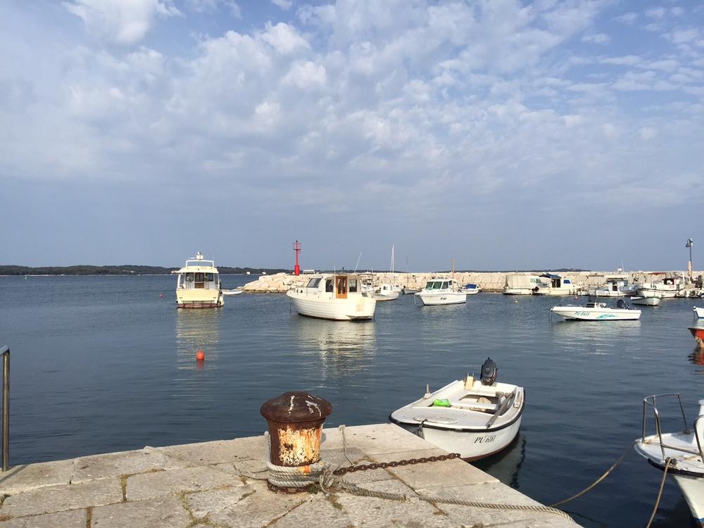Fazana's small and lovelyworking harbor