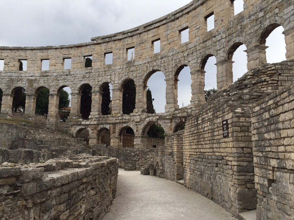 Inside for Pula's Amphitheater