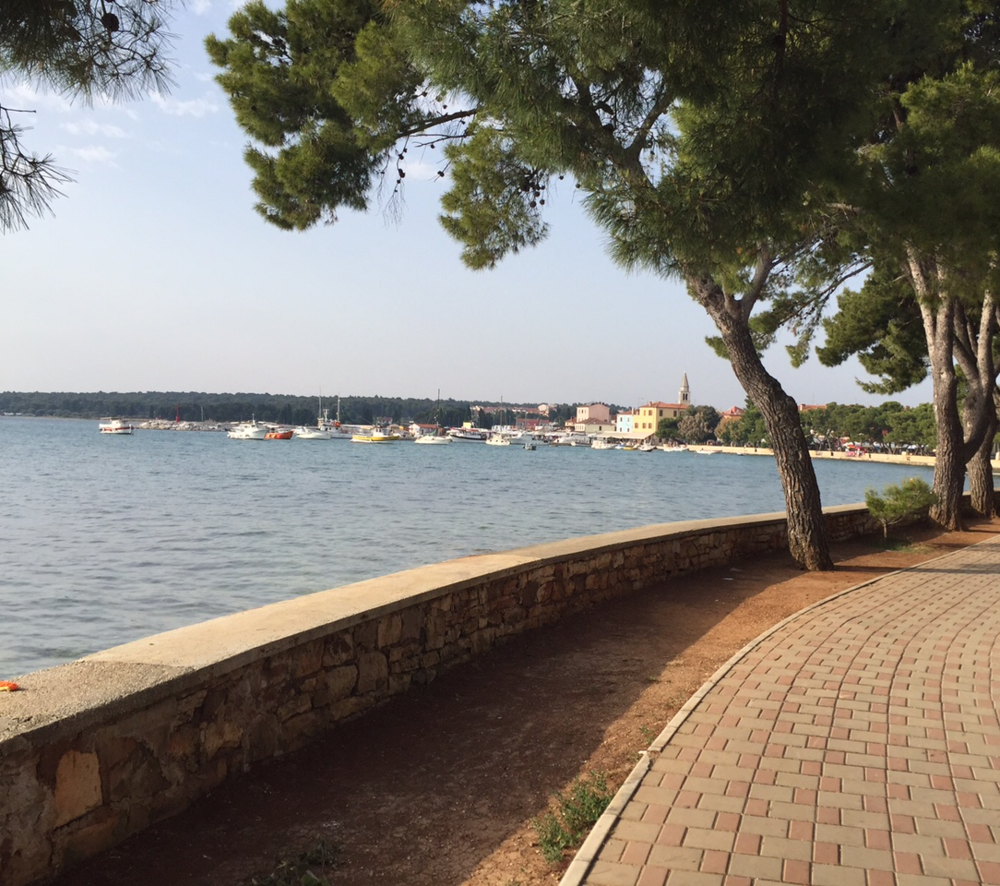 A view of Fazana from the beach walk