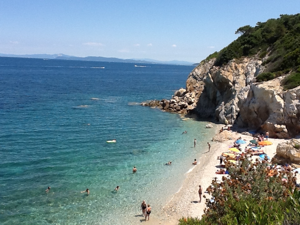 One of many secluded beaches on Elba.