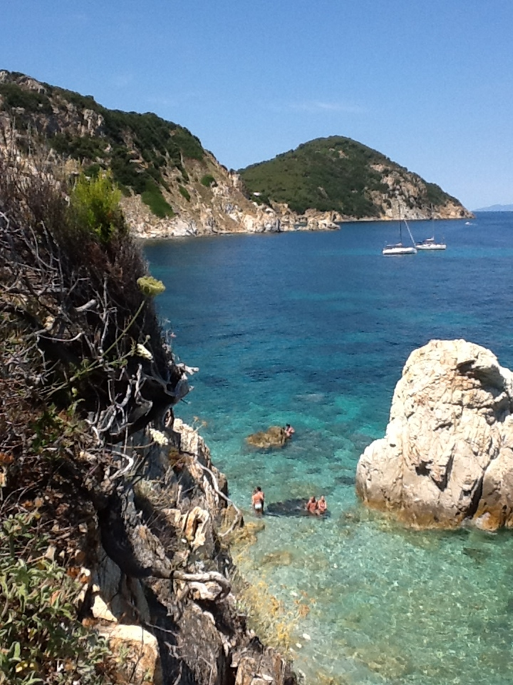 Swimming and boating on Elba