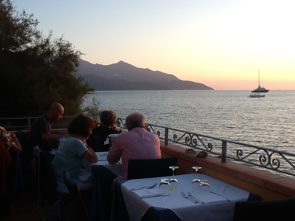 The view at Ristorante Da Giacomino on Elba