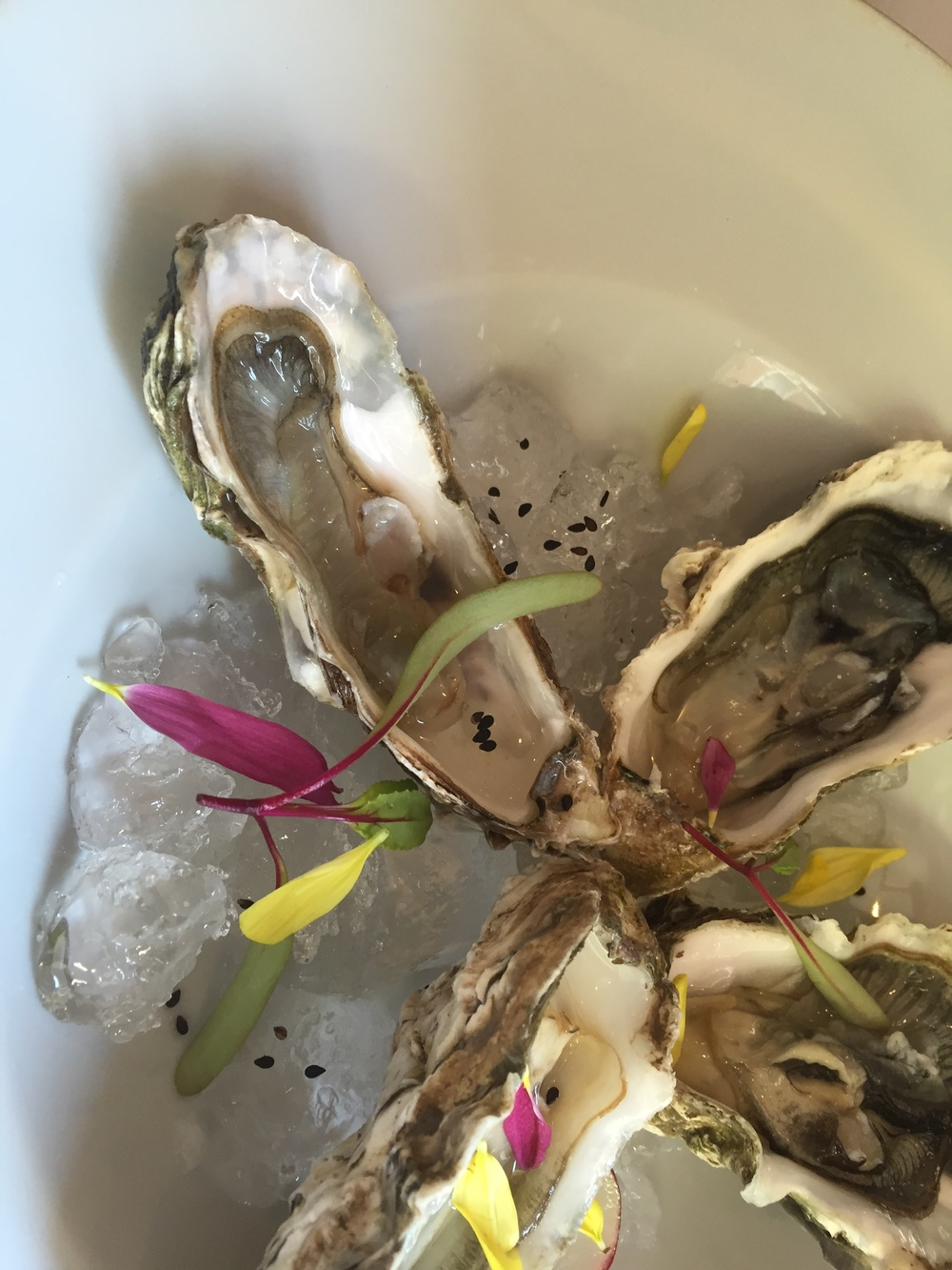 A particularly elegant presentation of Patagonian oysters at the excellent Roux in Recoleta