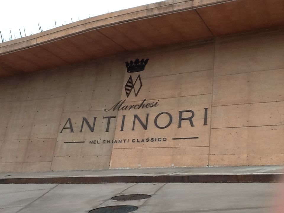 The entrance to Marchesi Antinori Nel Chianti Classico.