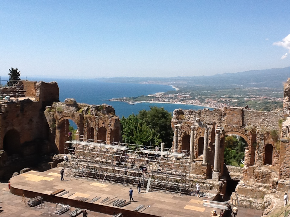 The Greek Theatre at Taormina.