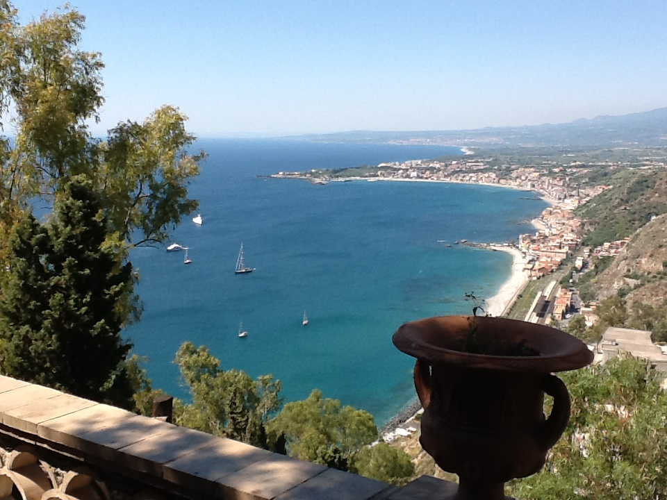 The view from Taormina.