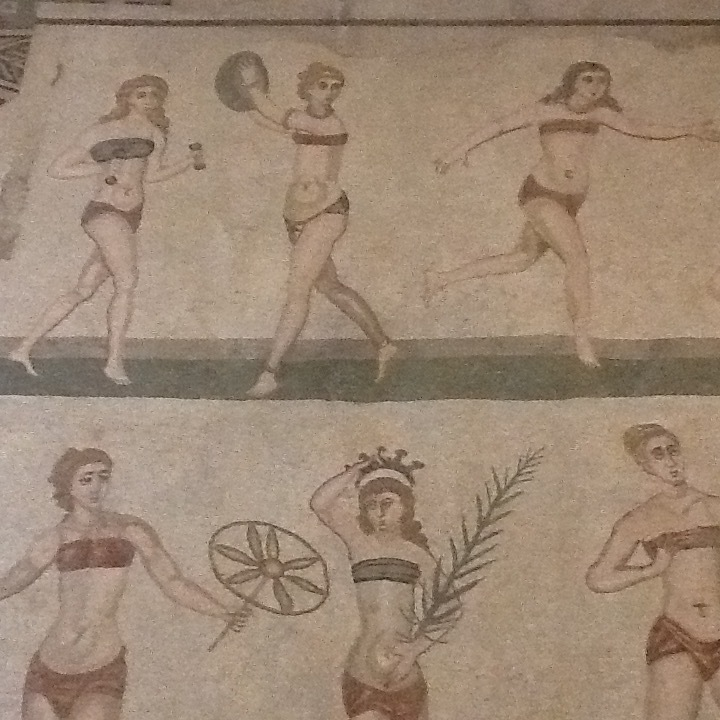 Exercising Beauties at Villa del Casale.