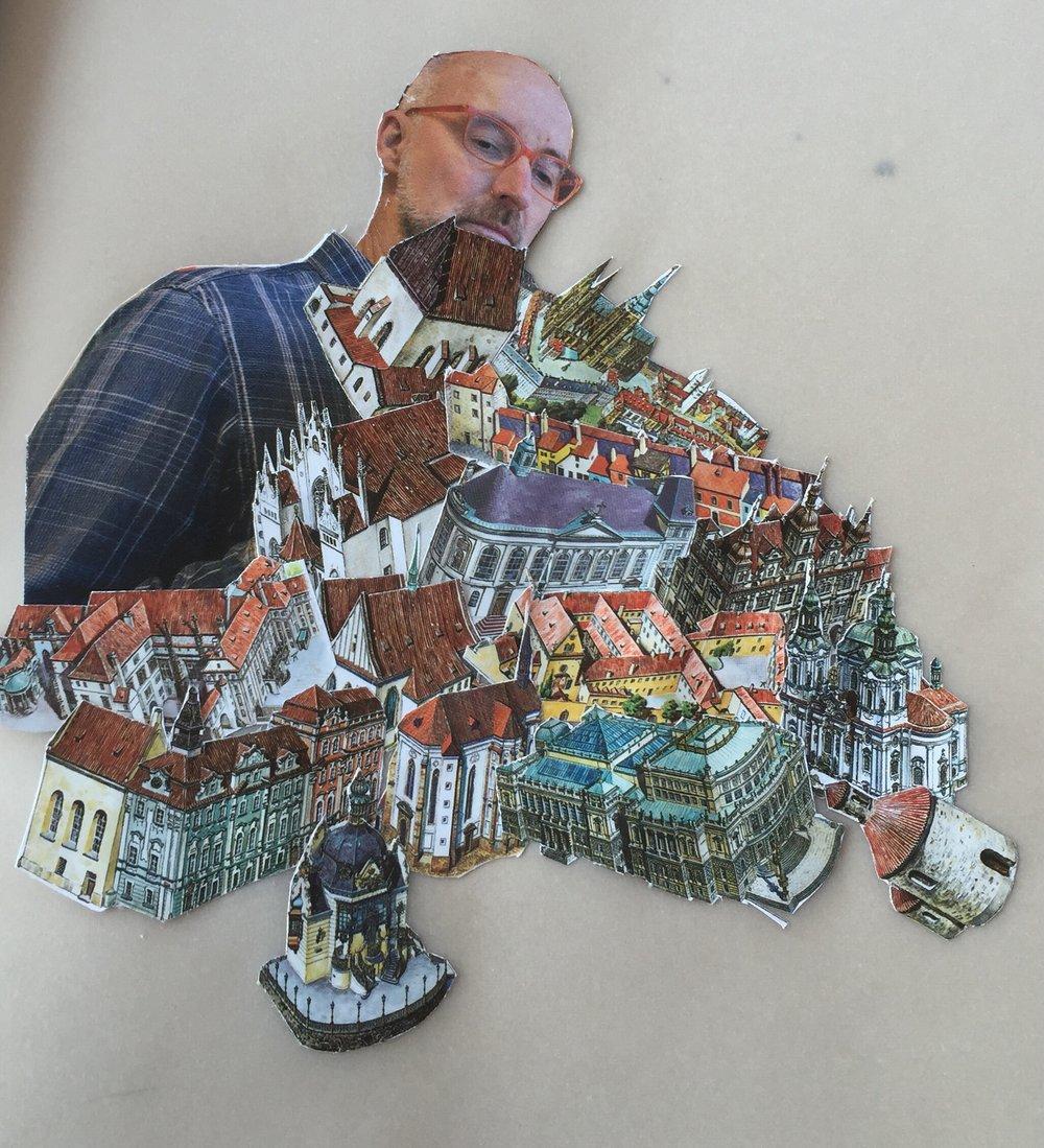 Randy's collaged homage to Prague