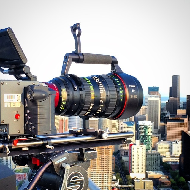 Perfect day to be on top of Seattle giving this monster a workout. #reddigitalcinema #canonUSA #monday #backtowork
