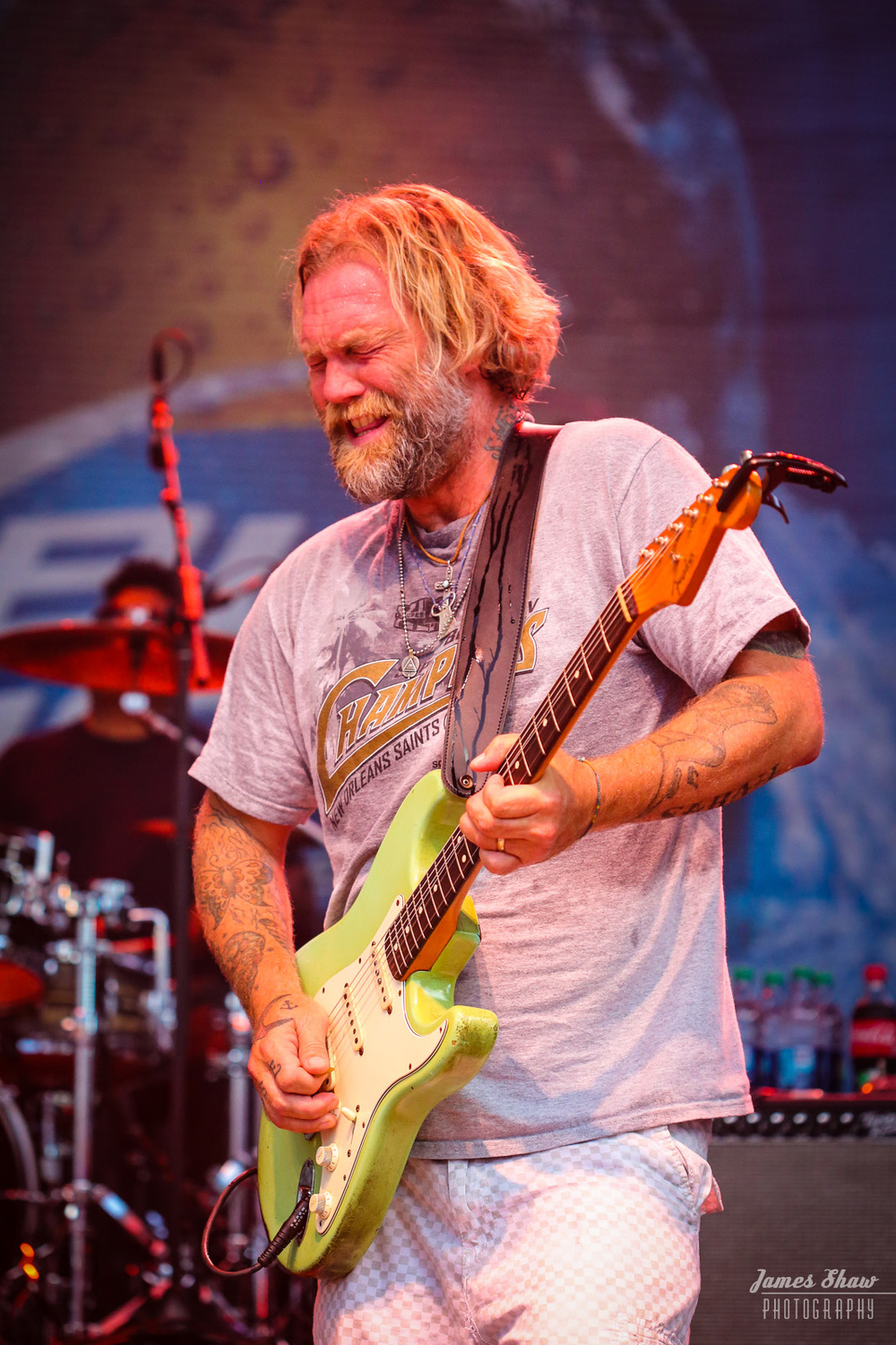 Anders Osborne rockin' out at Gleason Gras 2013.