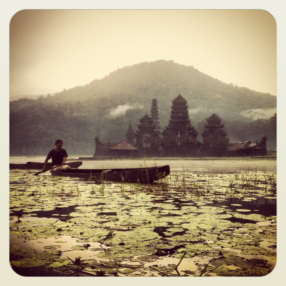 On Location in Tamblingan lake Bali