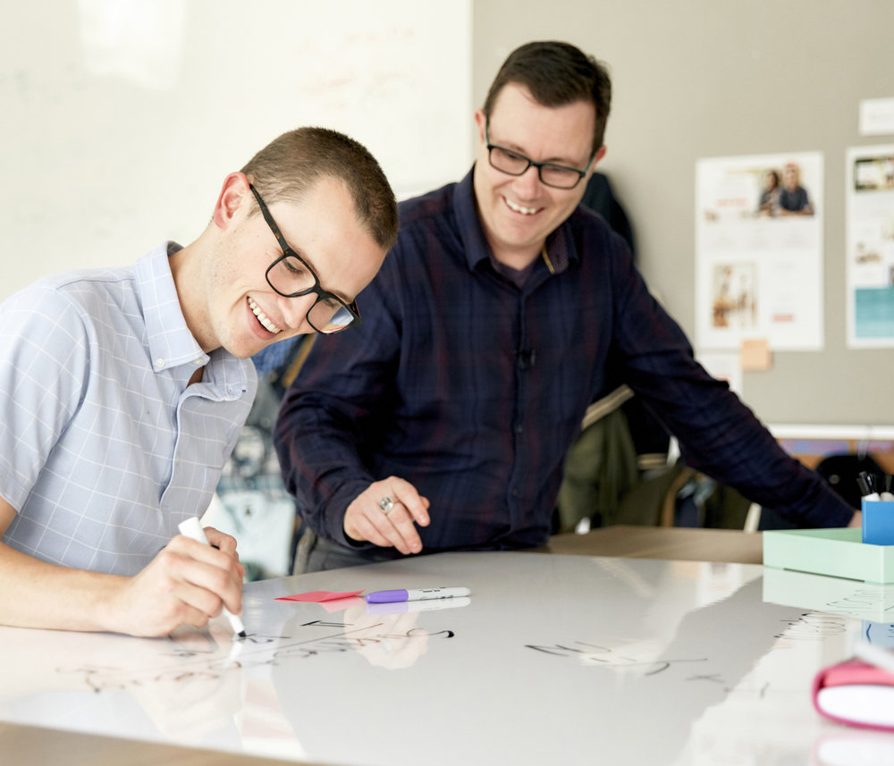Mike Vardy + Stitch Fix + Post-it  Productivity guru Mike Vardy helps streamline Stitch Fix's HQ in San Francisco by introducing collaboration inspiring Post-it products.