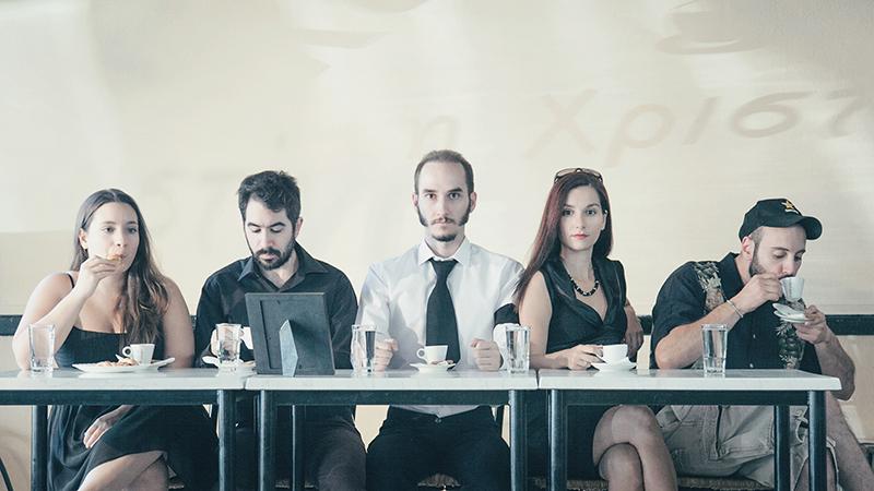 play  Mr. Kolpert by David Gieselmann   VAULT Theatre Plus   direction : Vangelis Laskaris   promo photo :  George Striftaris