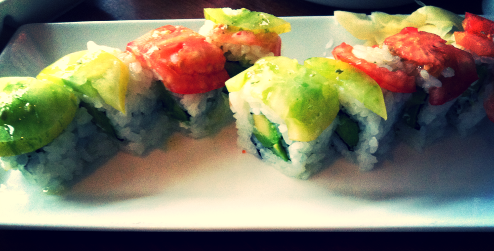 One of their special of the day: Heirloom Tomato Avocado Roll ~$14