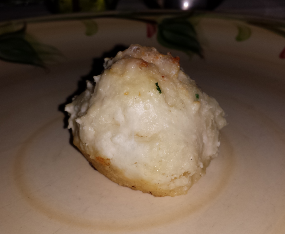 Goat cheese biscuit.