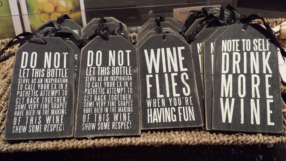 Wine Tags.