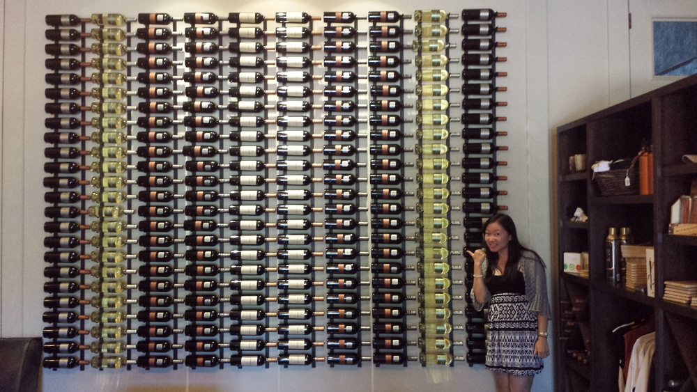 I really like the wall display of their wines.