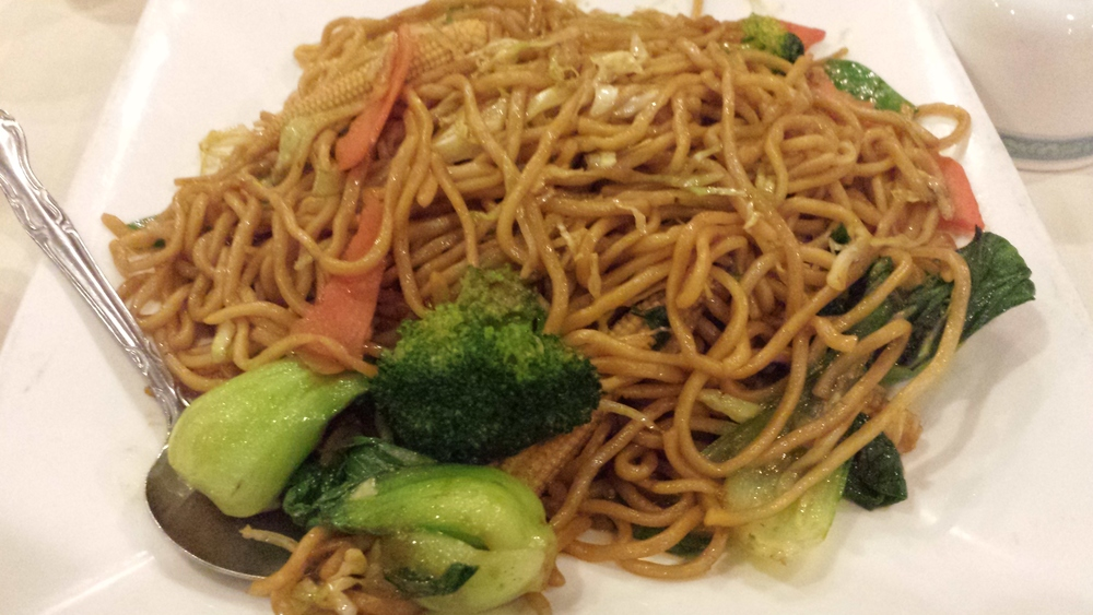 Chow Mein - broccoli, bok choy, carrots, and cabbage.  $7.50