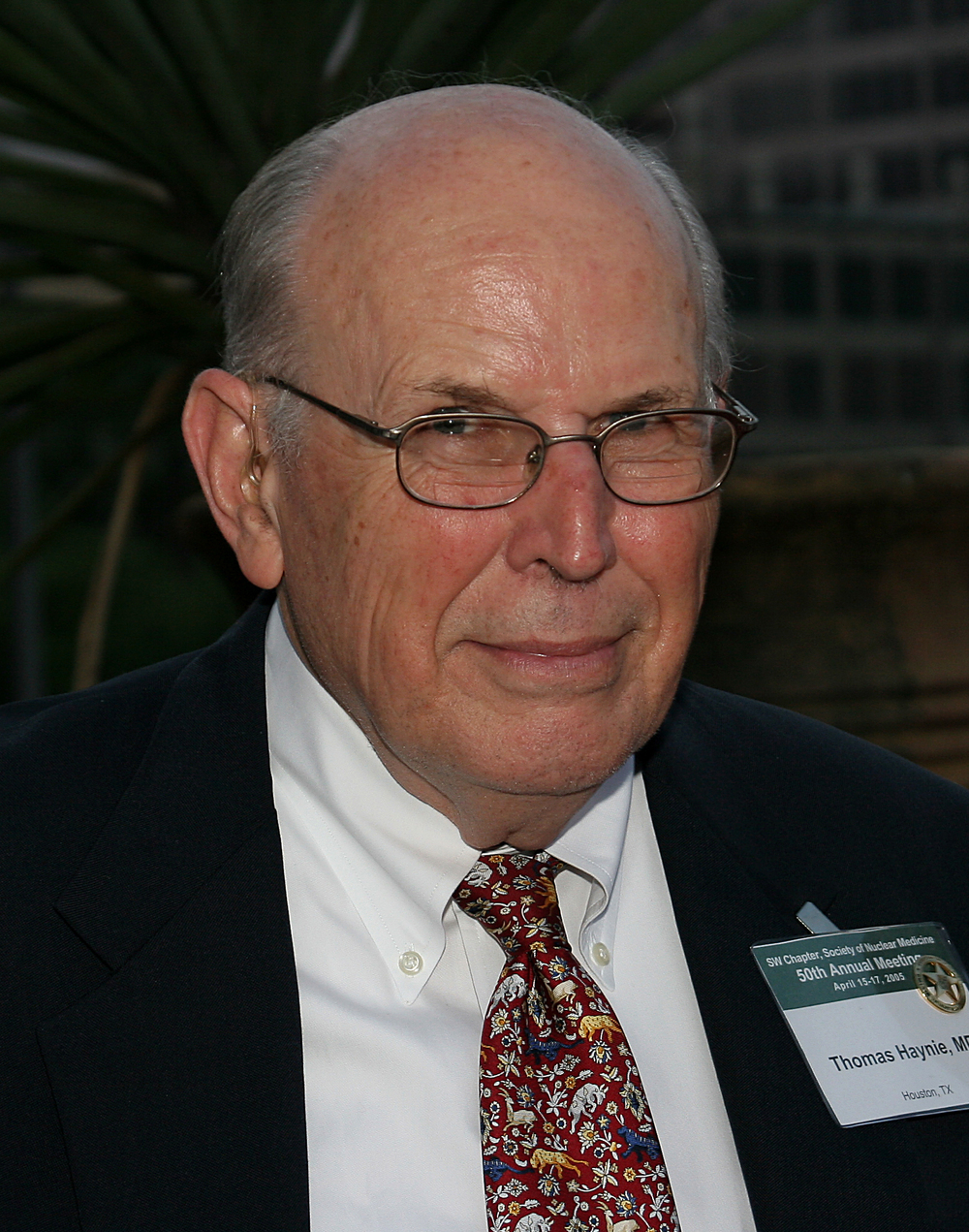 Thomas Haynie, MD 13th president of the Southwestern Chapter (term ending 1969)
