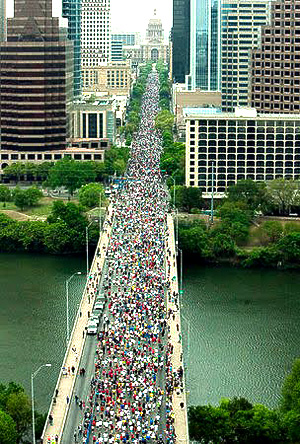The Austin-Statesman 10K will start Sunday AM near the Hyatt, so book your room soon!