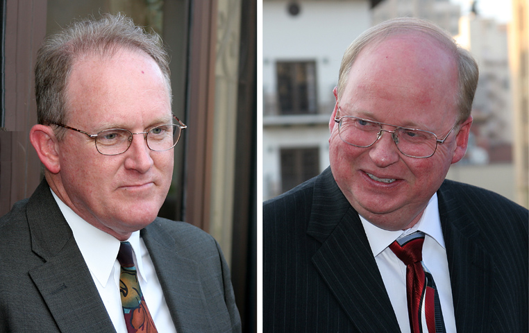 John Pickett (left) and Glenn Smith (right) 14th and 15th Presidents of the SWCSNM-TS.
