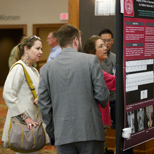 Meeting colleagues during poster presentations