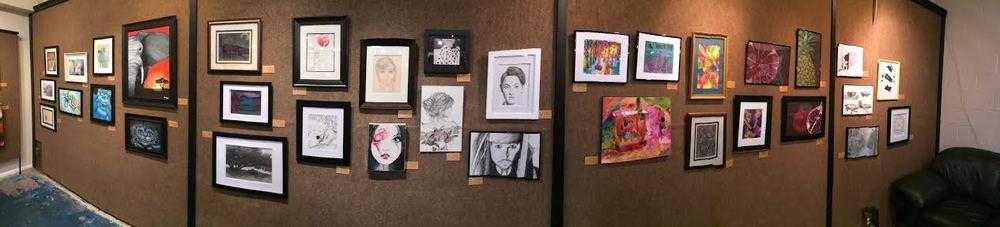 Student Art Gallery Showing in San Luis Obispo, CA.