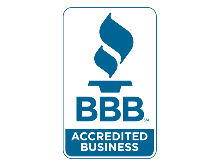 We are accredited with the Better Business Bureau!