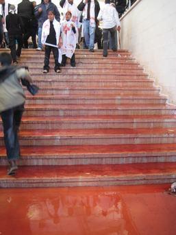 De trap van de moskee