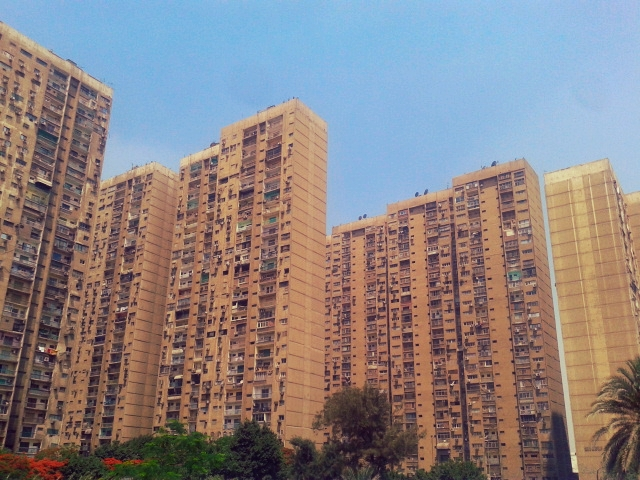 Apartment complexes in Maadi. Just a few of them.