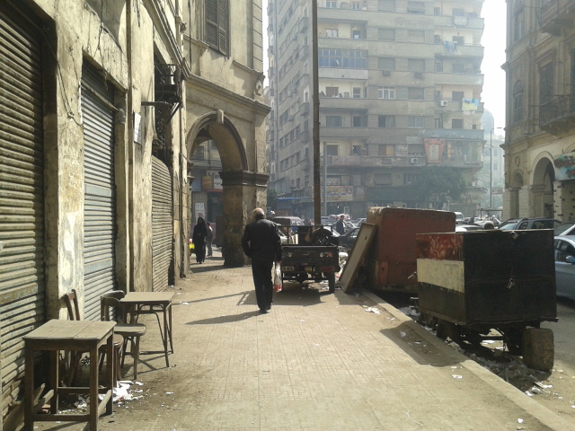 Pedestrian in Attaba, Downtown Cairo.
