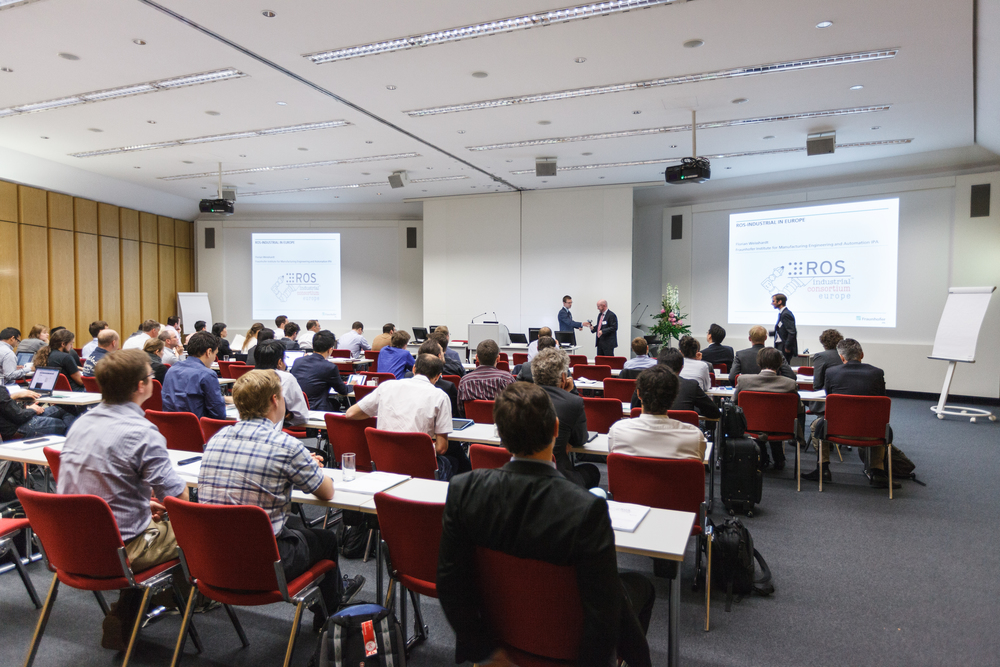 More than 70 people attended the public ROS-I conference that preceded the Consortium members' meeting.
